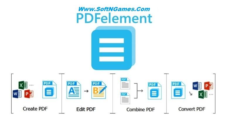 Wondershare PDFElement Crack-Cover-SoftNGames
